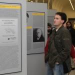 Na dvanácti panelech bylo představeno osmnáct osobností působících na Filozofické fakultě někdejší Německé univerzity v Praze