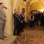Bc. Karel Ksandr, generální ředitel Národního technického muzea a spolupořadatel výstavy, promlouvá k návštěvníkům
