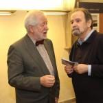 PhDr. Zdeněk Pousta a PhDr. Michal Svatoš, CSc., z Ústavu dějin UK a archivu UK