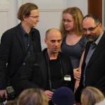 Ing. Jiří Gregor, proděkan pro rozvoj (na snímku vpravo), domlouvá podrobnosti s novináři