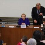 Madeleine Albrightová je jedním z nejvýznačnějších hostů, kteří kdy FF UK navštívili