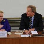 Diskuse s Madeleine Albrightovou probíhala v živém duchu