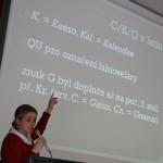 O latinské abecedě přednášela doc. Lucie Pultrová, hlavní pořadatelka akce