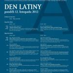 Plakát s programem dne latiny