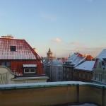 zimní výhled z terasy