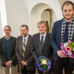 zleva: dr. Jakub Jirsa, ředitel Ústavu filosofie a religionistiky FF UK, PhDr. Milan Lyčka, Ph.D., doc. Ilja Lemeškin, Mgr. Jiří Dynda