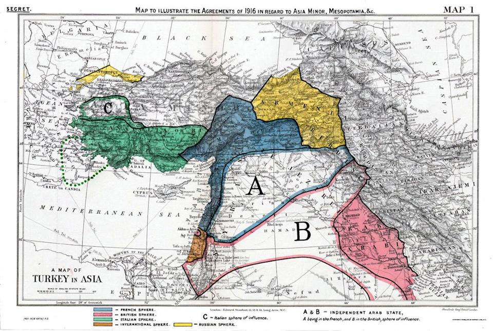 100th Anniversary Of The Sykes Picot Agreement Which Changed The
