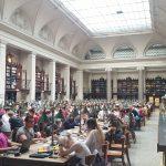 Univerzitní knihovna (Universitätsbibliothek Wien), historická studovna z konce 19. století.
