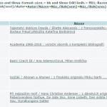 Náhled obálek v seznamu výsledků vyhledávání Centrálního katalogu UK.