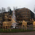 v listopadu jsou Helsinky už bohatě vyzdobené a připravené na Vánoce