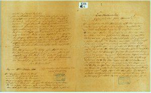 Ukázka dopisu Karla Havlíčka. Zdroj Archiv FF UK.