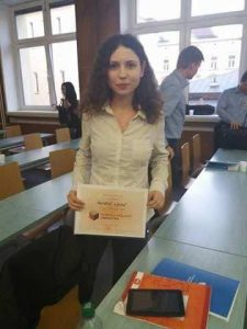 Karolína Lipská (Ústav románských studií FF UK, obor francouzská filologie), vítězka celostátního kola soutěže Student věda 2017