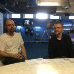 Taktická porada proděkana pro informační zdroje Ondřeje Tichého a vedoucího LVT Miroslava Vacury