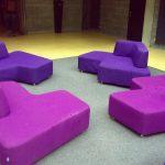 Jedna z odpočinkových zón určená návštěvníkům knihovny