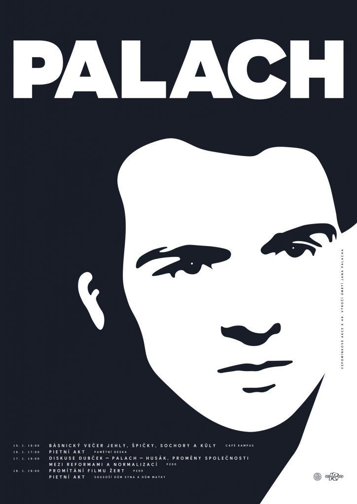 Jan Palach – vzpomínkové akce (2018) [plakát]