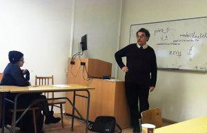Doc. Sergej Skorvid při letošním blokovém semináři o českojazyčných enklávách v postsovětském prostoru