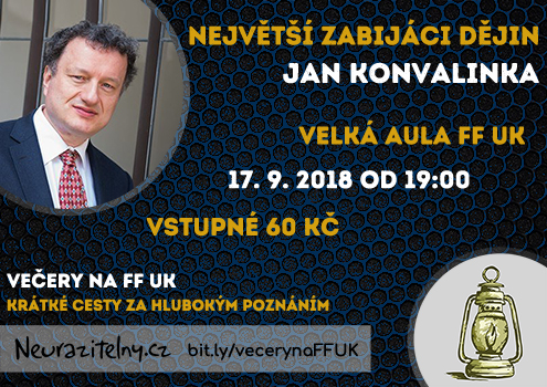 Jan Konvalinka Večery na FF UK