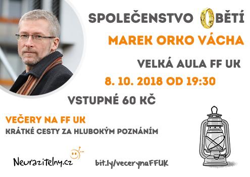 Marek Vácha Večery na FF UK