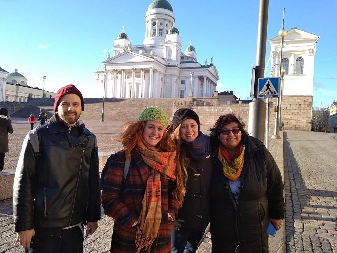 Fotografie ze studentské týdenní stáže v Helsinkách